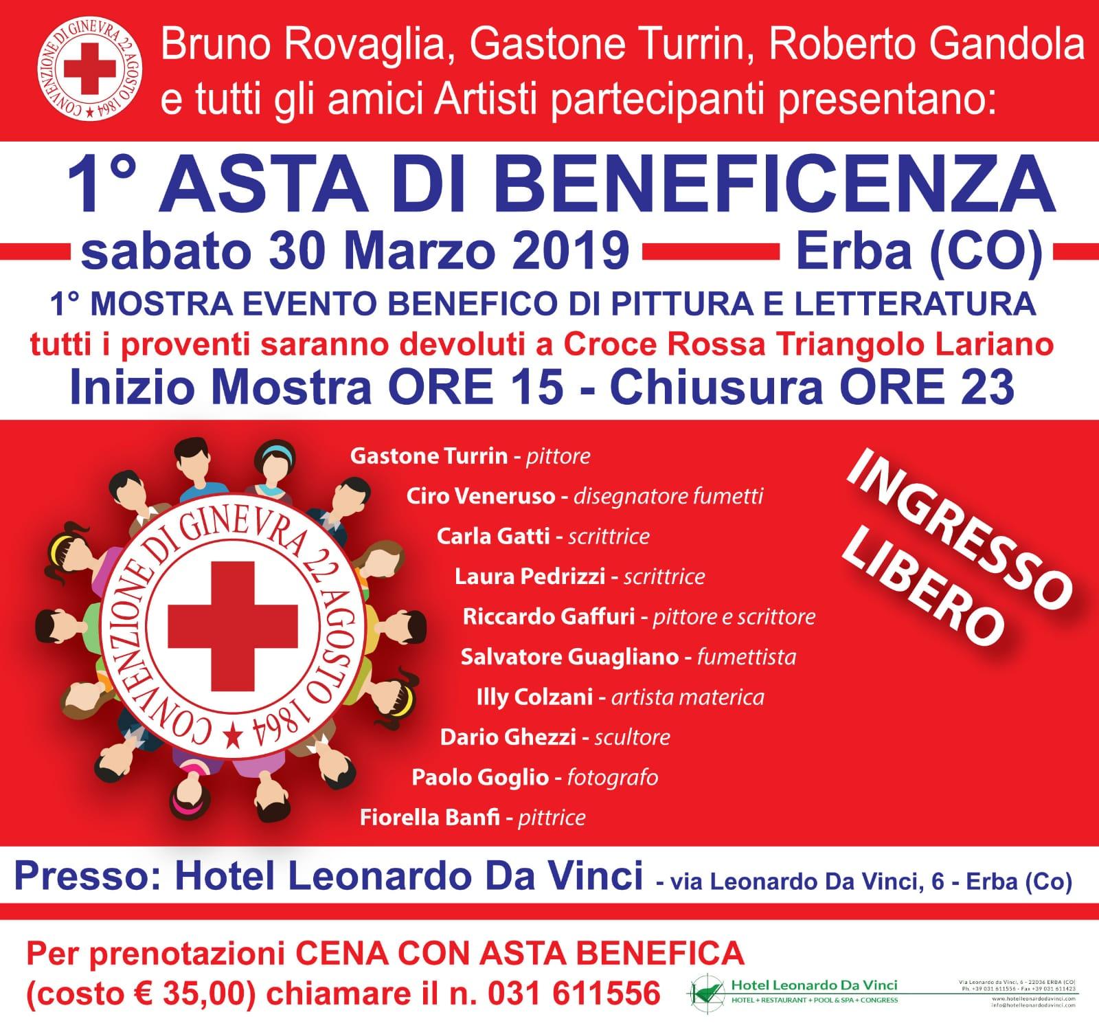Erba (CO) – 1a Asta di beneficenza della Croce Rossa Italiana