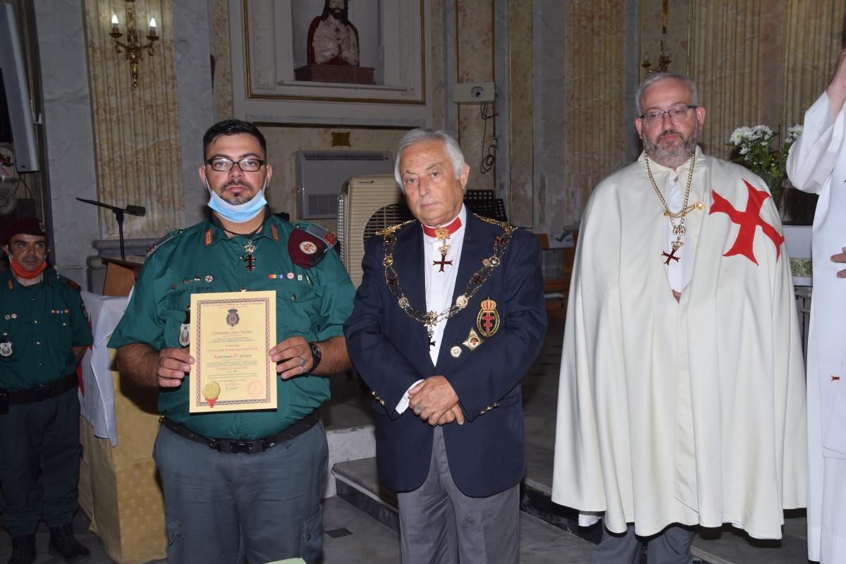 Napoli – Piscinola – L'Angelo Templare Antonio D'Avino elevato a Cavaliere Servente