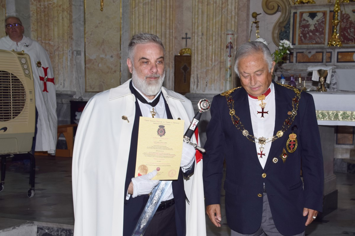 Napoli – Piscinola – Consegna della Lettera Patente della Commenda di Salerno