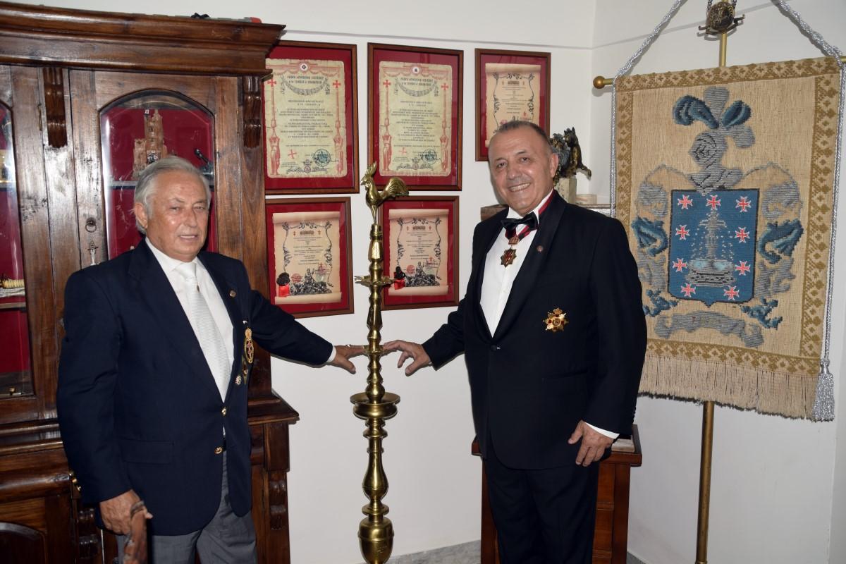 Portici (NA) – Visita del Priore della Bulgaria OSMTH Roumen Ralchev al Priorato d'Italia