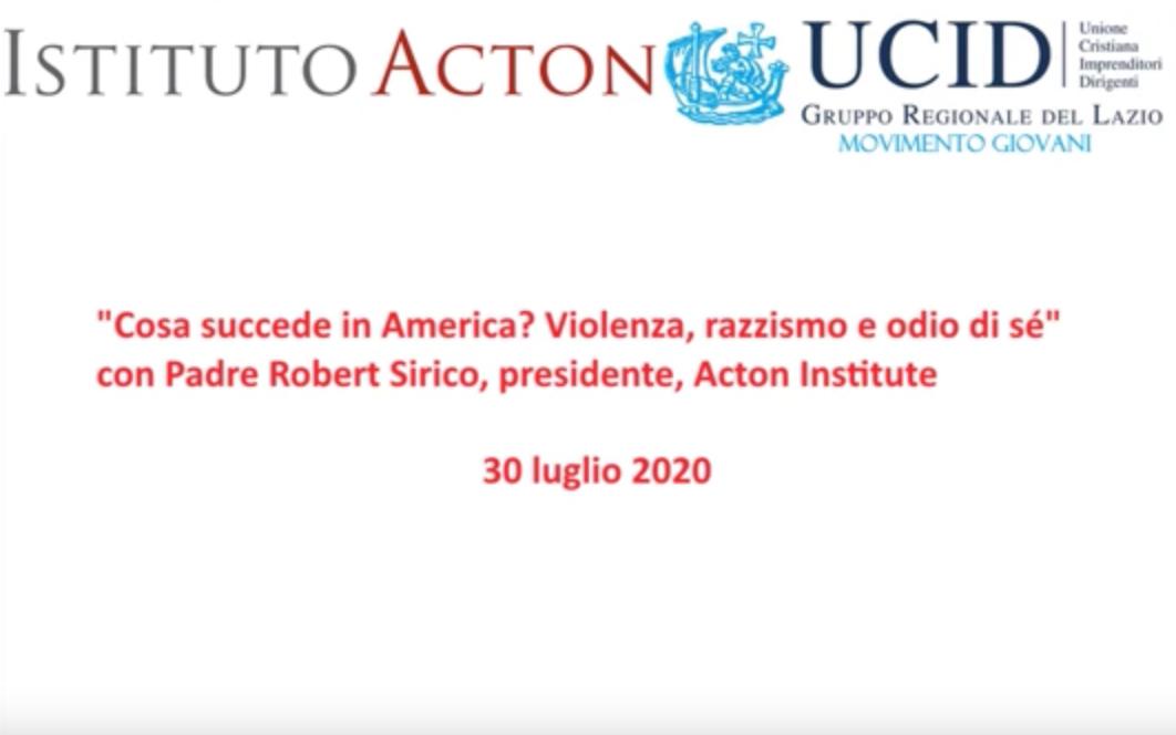 Cosa succede in America? Il Video Convegno dell'UCID Regione Lazio