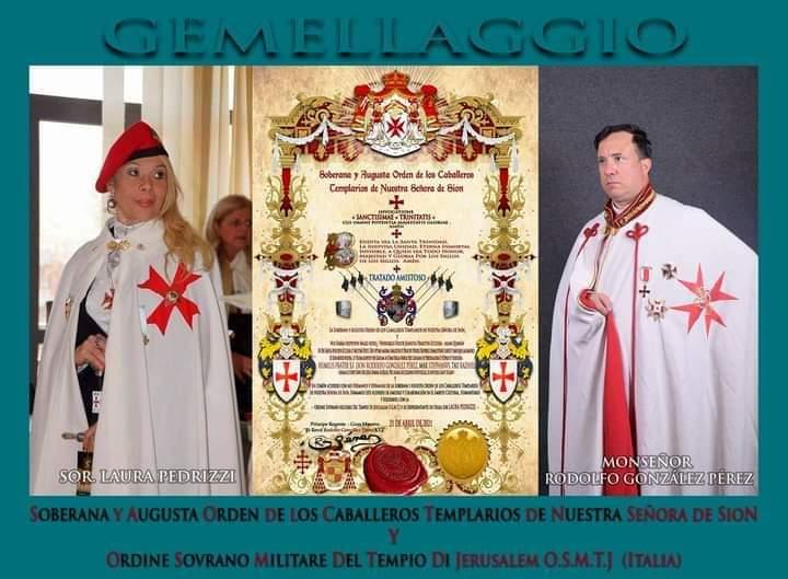 Gemellaggio tra l'OSMTJ 1804 Italia ed il Soberana Y Augusta Orden de los Caballeros Templarios de Nuestra Señora de Sion